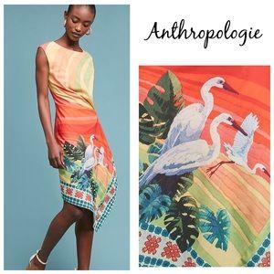 NWT Anthropologie Eva Franco Vibrant Bird Dress 10